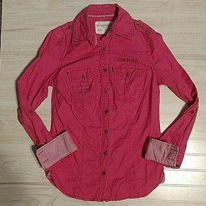 Cute lightweight button down shirt by Aeropostale